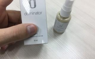 Доминатор – отзыв уролога о спрее для мужчин