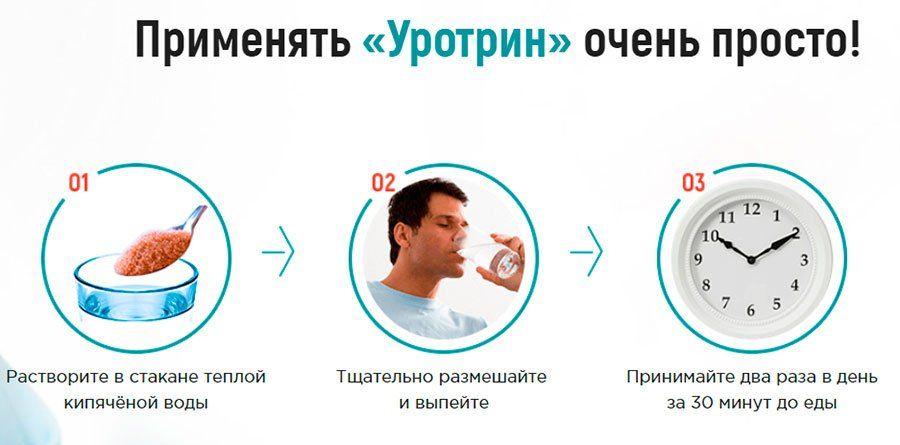 как применять уротрин