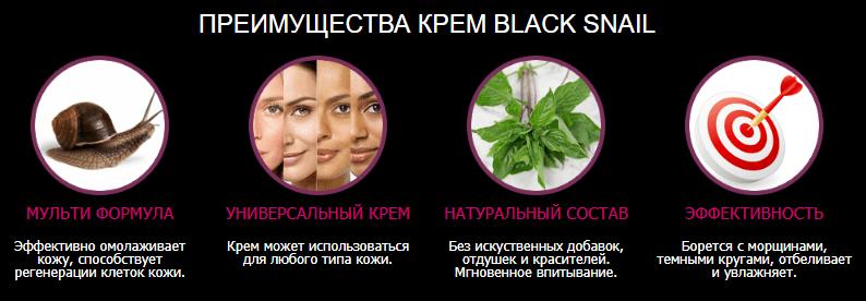крем black snail действует ли