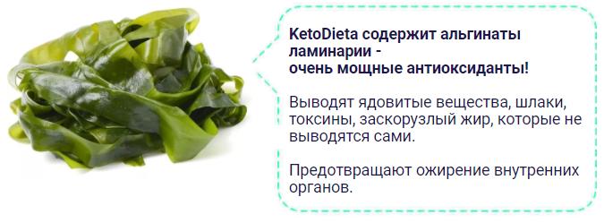 ketodieta содержит альгинаты ламинарии